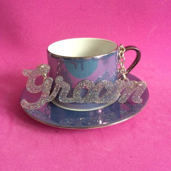 DISCO GROOM; Glitter Perspex Statement Necklace   Festival & Party Jewellery   Kokomo Design   Bristol