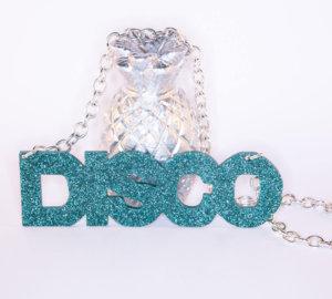 DISCO; Glitter Perspex Statement Necklace | Festival & Party Jewellery | Kokomo Design | Bristol
