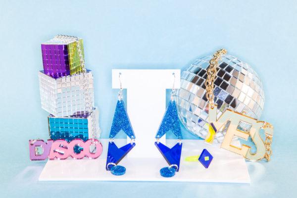 DISCO; Small Mirrored Perspex Necklace   Festival & Party Jewellery   Kokomo Design   Bristol