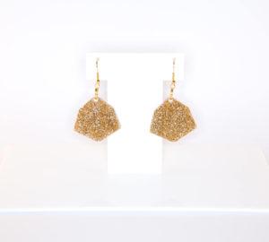 IRREGULAR HEXAGON; Glitter Perspex Earrings | Festival & Party Jewellery | Kokomo Design | Bristol