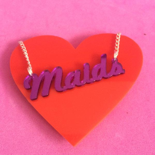 MAIDS; Mirrored Perspex Necklace | Festival & Party Jewellery | Kokomo Design | Bristol