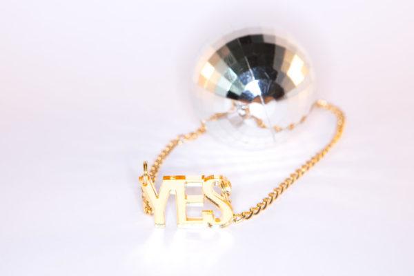 YES; Mirrored Perspex Necklace | Festival & Party Jewellery | Kokomo Design | Bristol